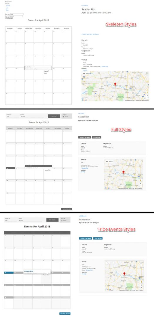 The Events Calendar by Modern Tribe, free version