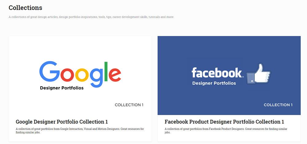 example portfolio collections