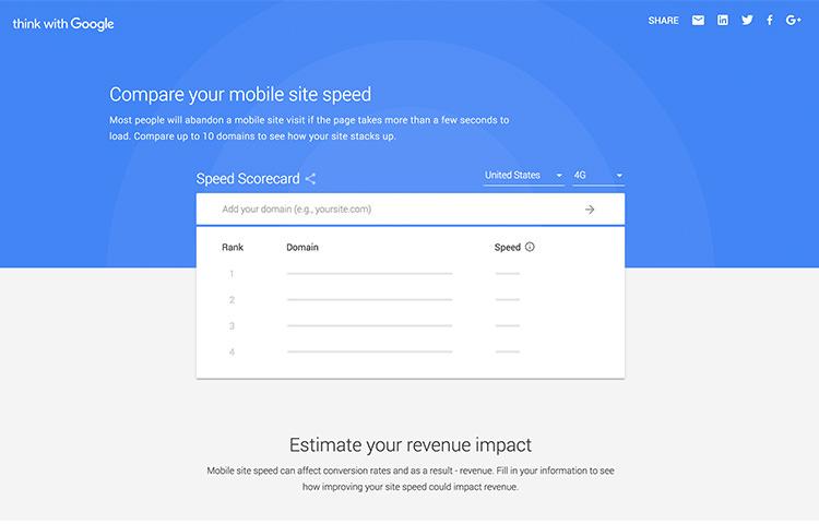 Compare Mobile Site Speed