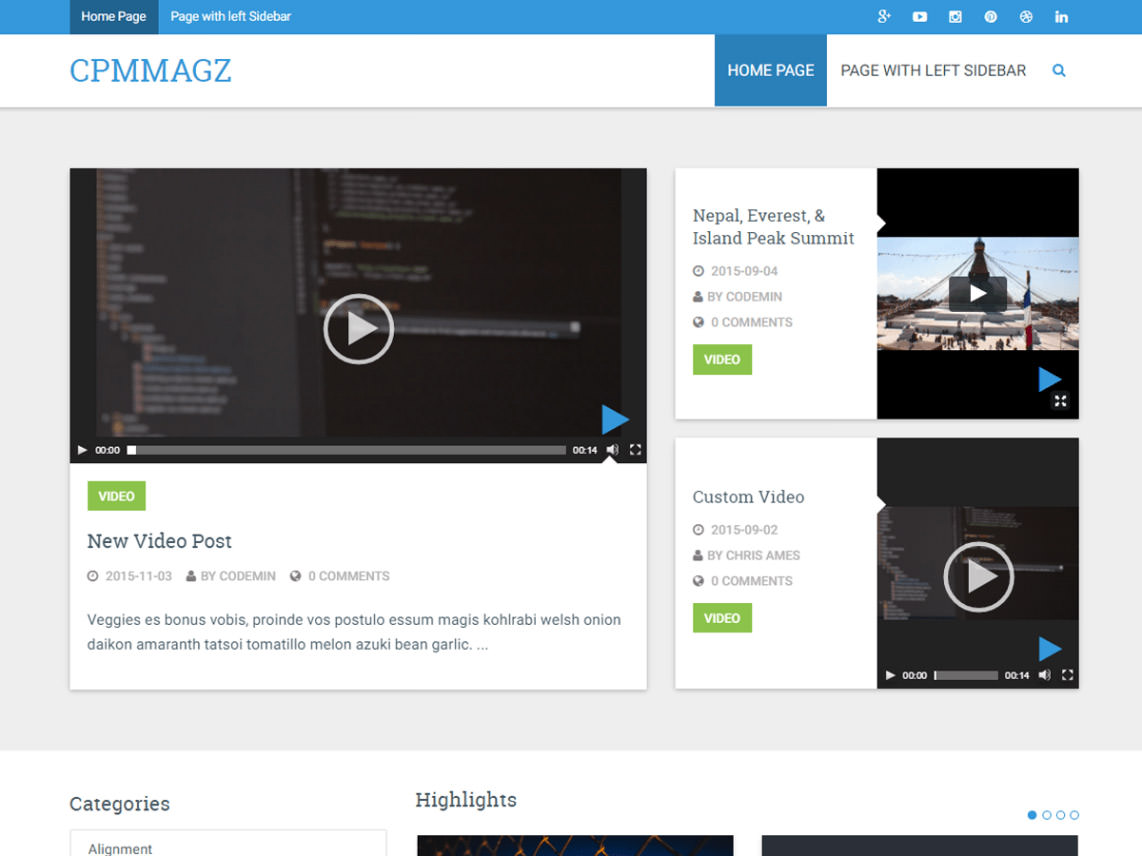 CPMmagz is a magazine focused theme