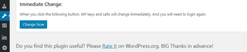 Changing your WordPress salt keys.