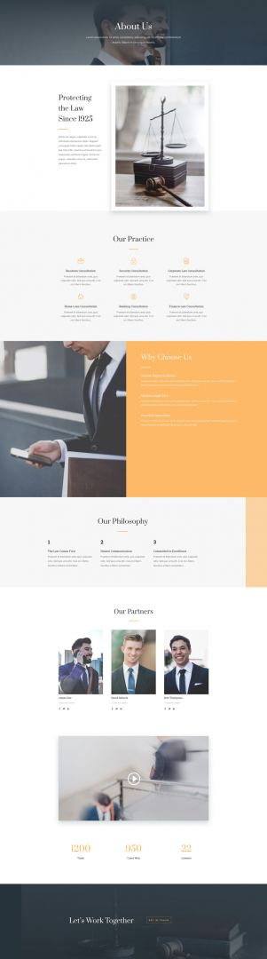 law firm layout about page