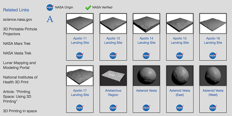 3D Resources by NASA
