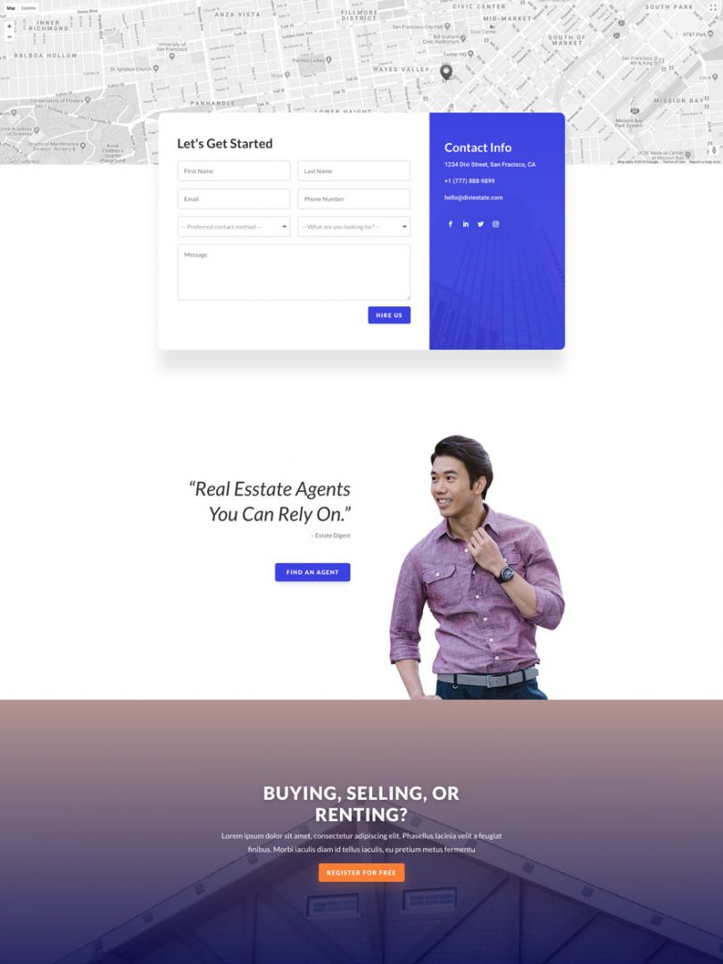 real estate contact page
