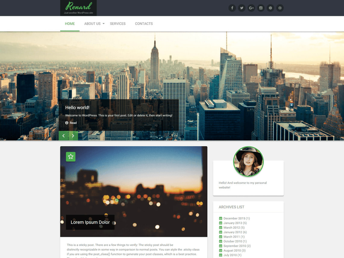 Renard is a lightweight WordPress theme
