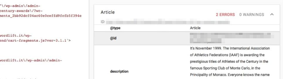 Editing your post's metadata.