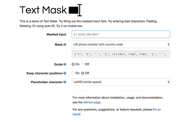 Text Mask
