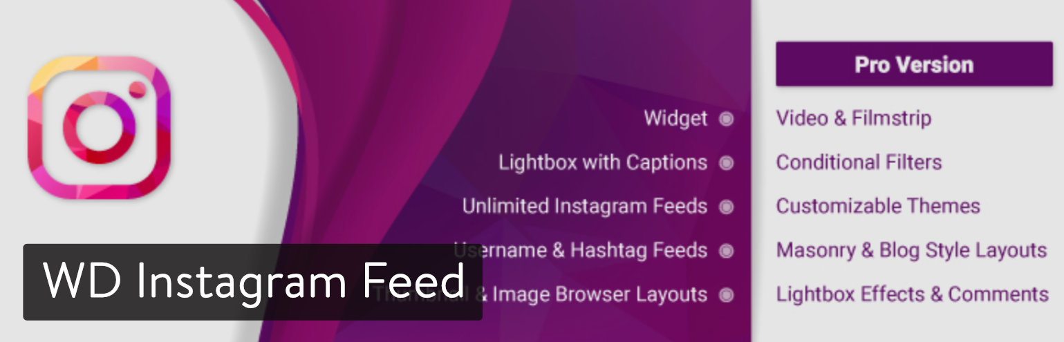 WD Instagram Feed plugin