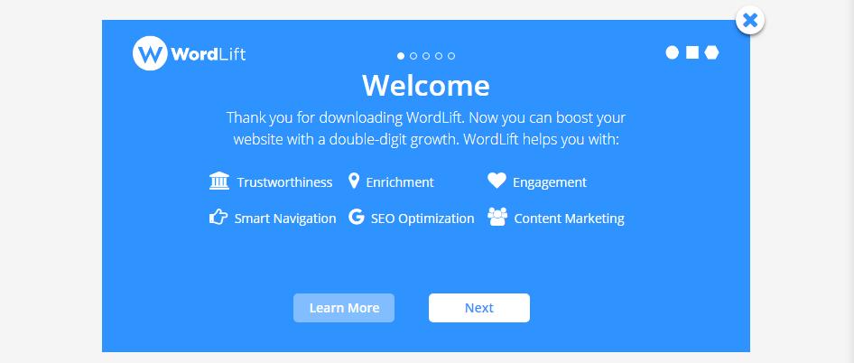 The WordLift plugin introduction.