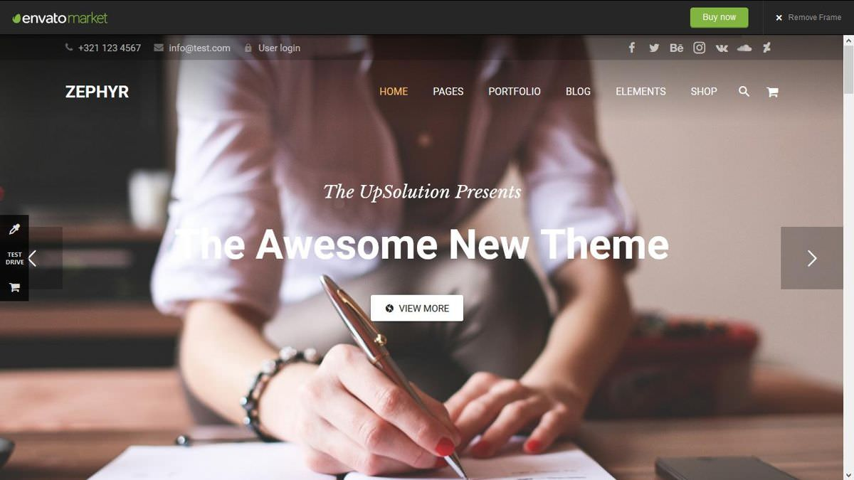 Zephyr is a premium material design theme