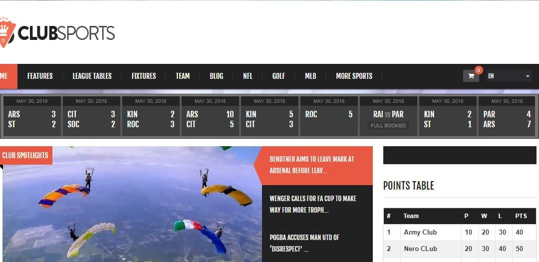 10 Best WordPress Sports Theme for Sports Websites in 2018