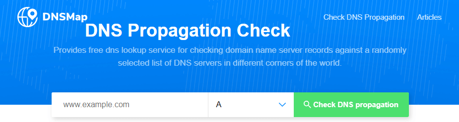 The DNSMap homepage.