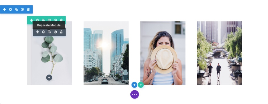diagonal layout duplicate images