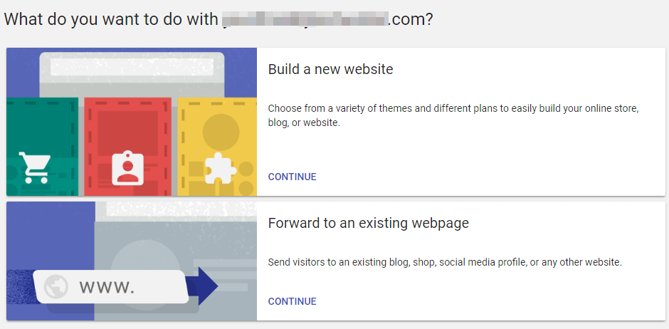 Redirecting your new domain.