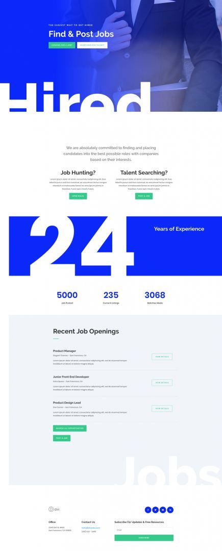 job recruiter layout