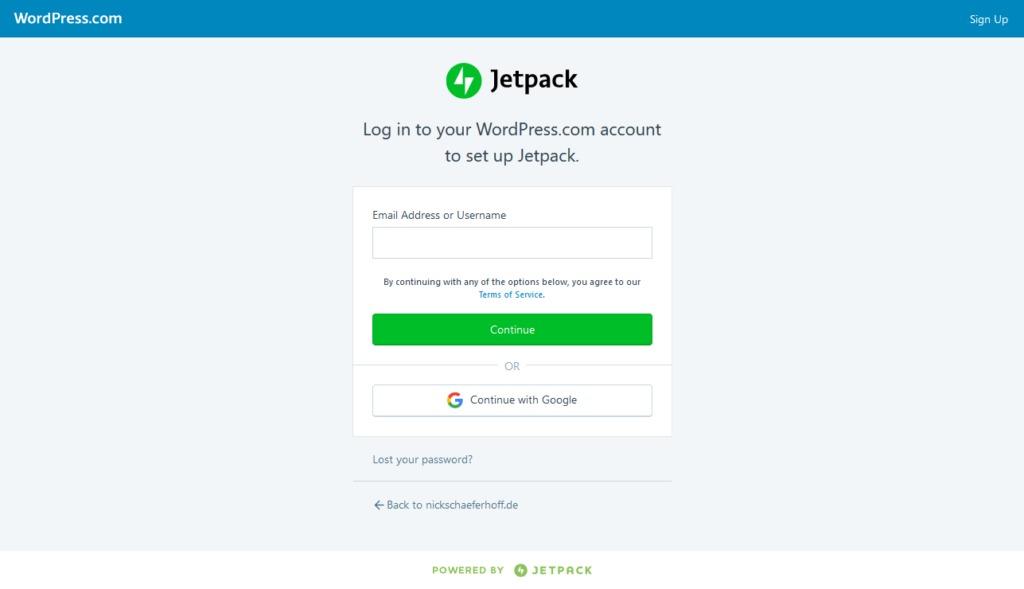 wordpress desktop app connect jetpack to wordpress com