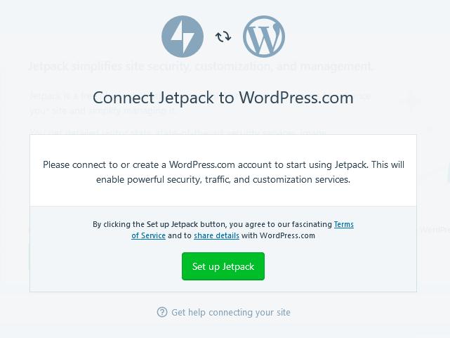 wordpress desktop app set up jetpack
