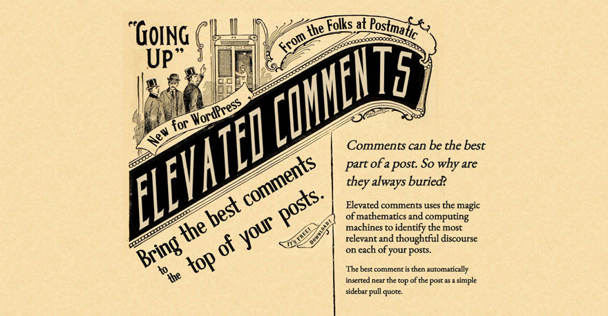 Elevated Comments plugin by Postmatic