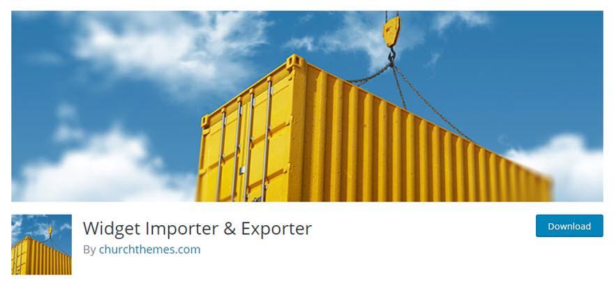 WordPress Widget Importer and Exporter