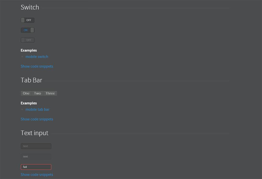 topcoat example screenshot