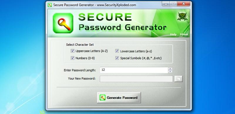 secure password gen