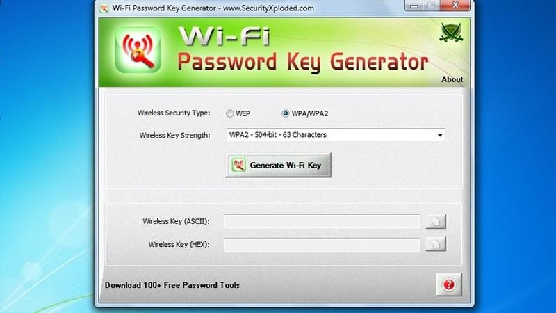wifi password key gen