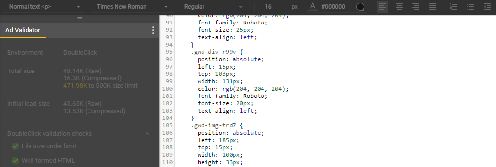 Switching to the program's code view.