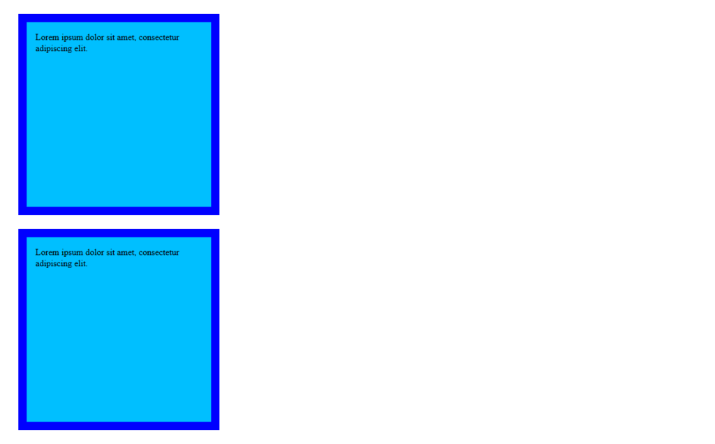 css box model adding a margin and second element