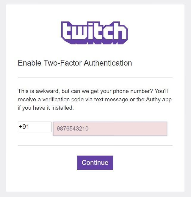 Enable Two-Factor Authentication in Twitch