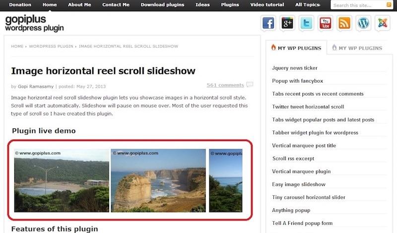 image-horizontal-reel-scroll-slideshow