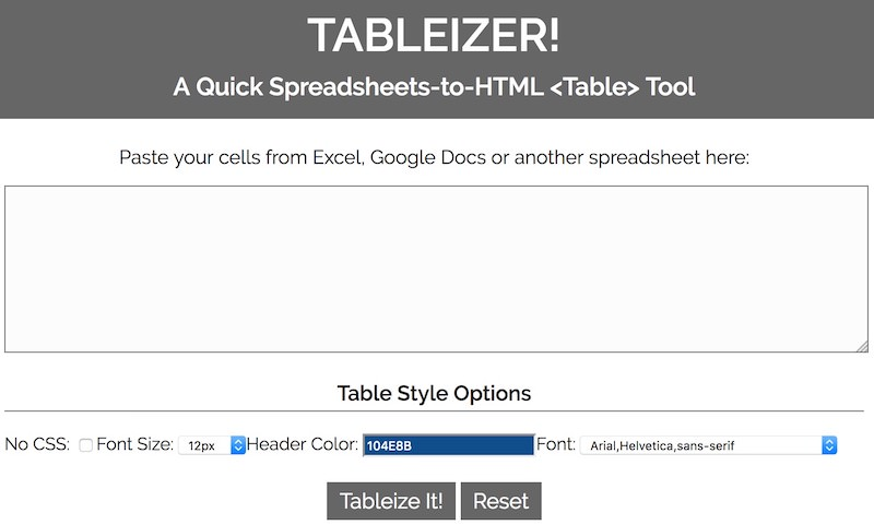 tableizer