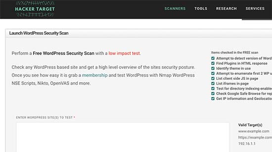 WordPress Security Scan