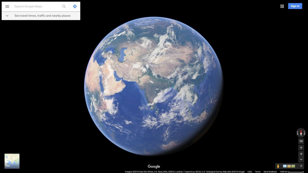 Zoom in into Google Maps