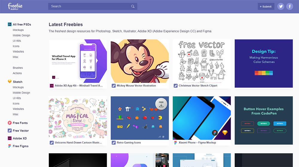 freebie supply homepage