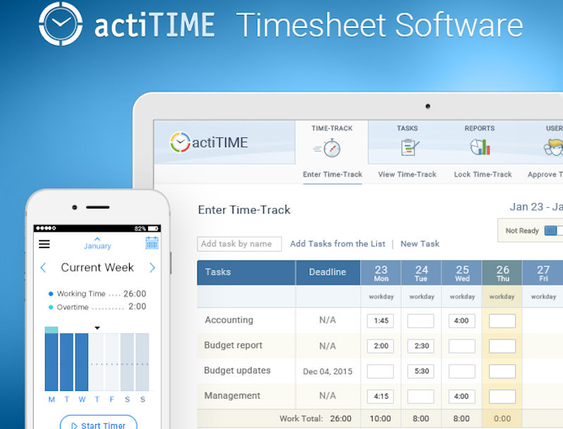 actiTIME-online-projects-tool