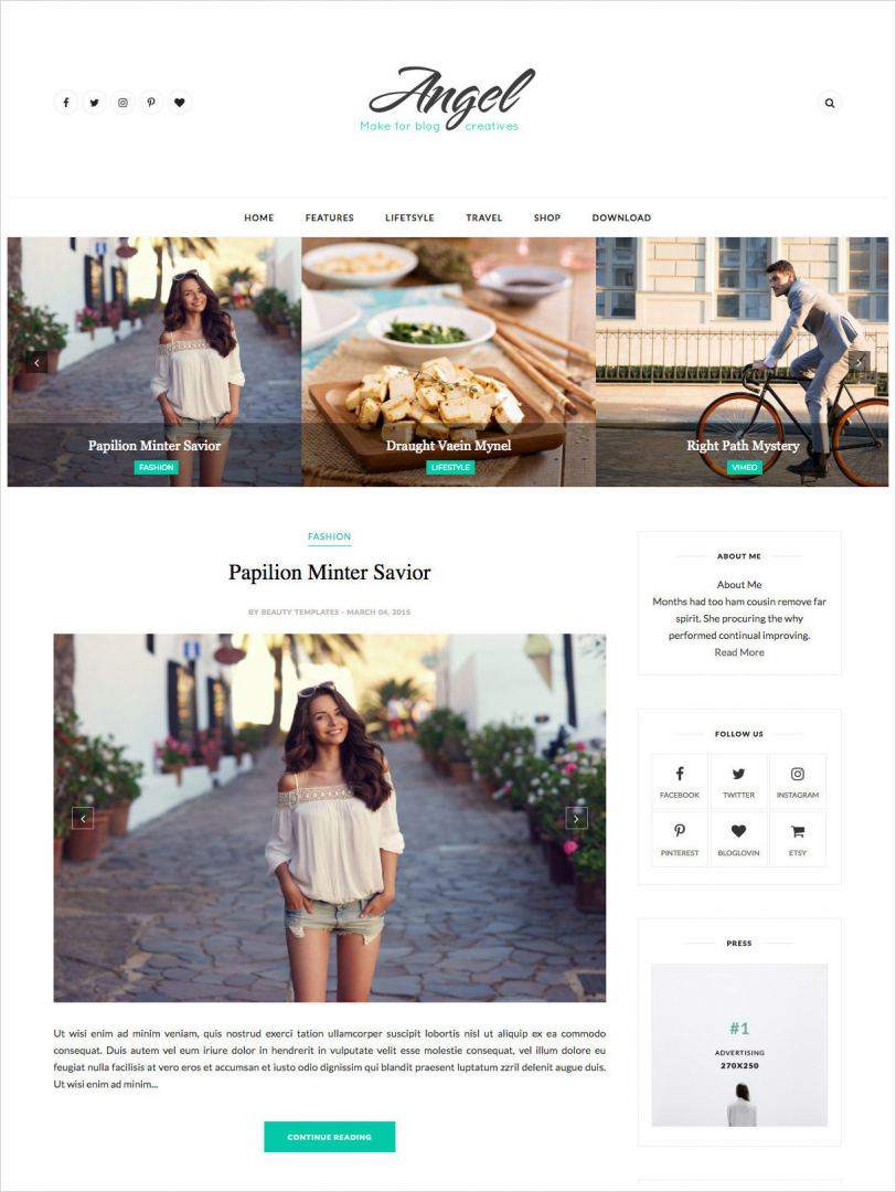Angel-Blogger-Template