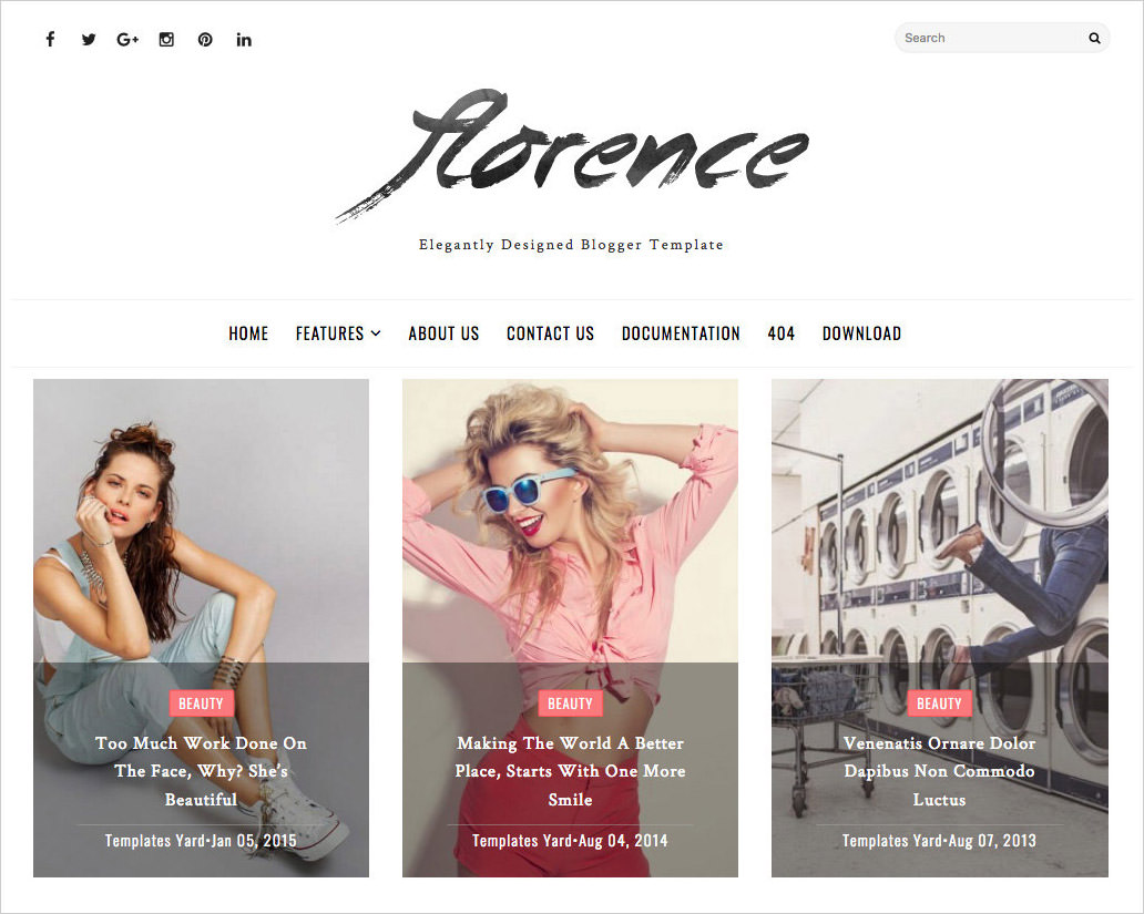 Florence-Blogger-Template
