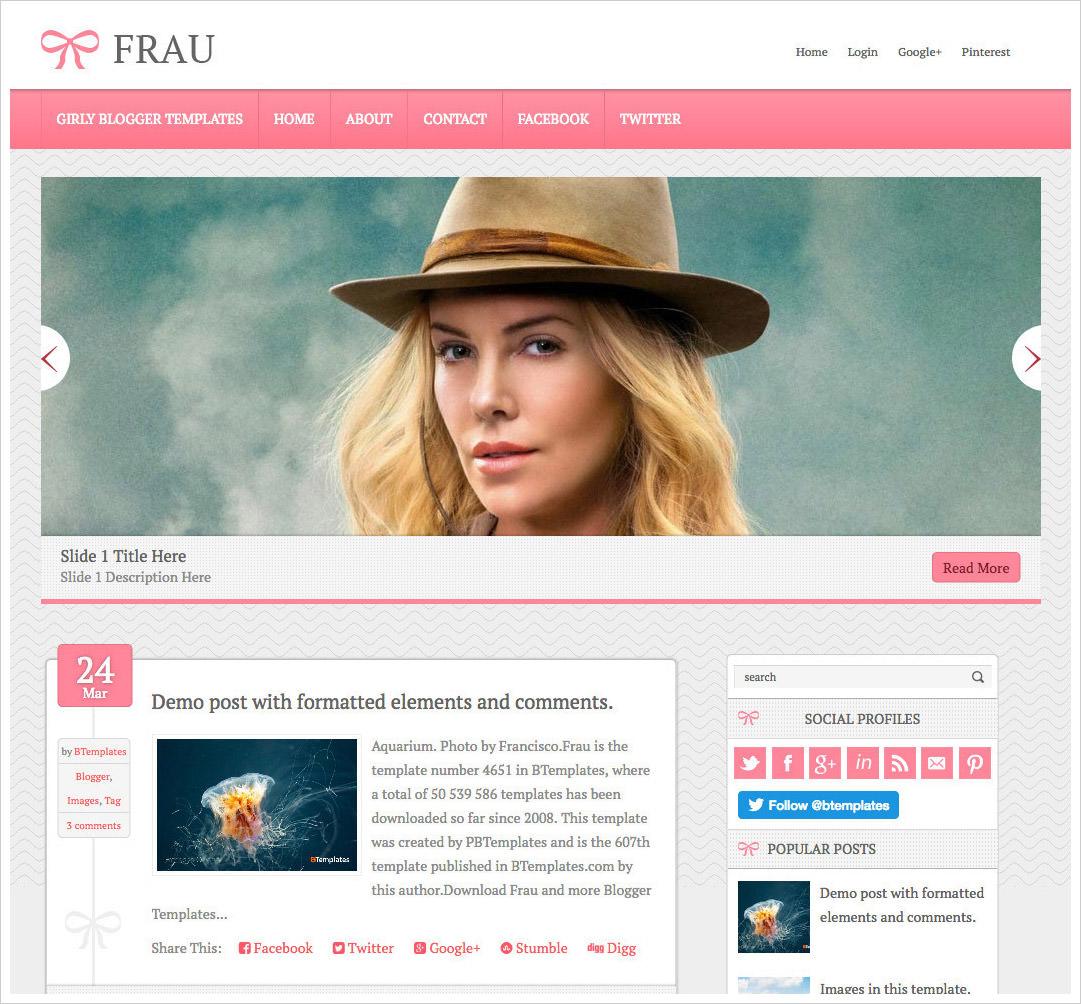 Frau-Blogger-Template