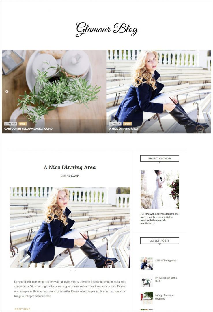 Glamour-Blogger-Template