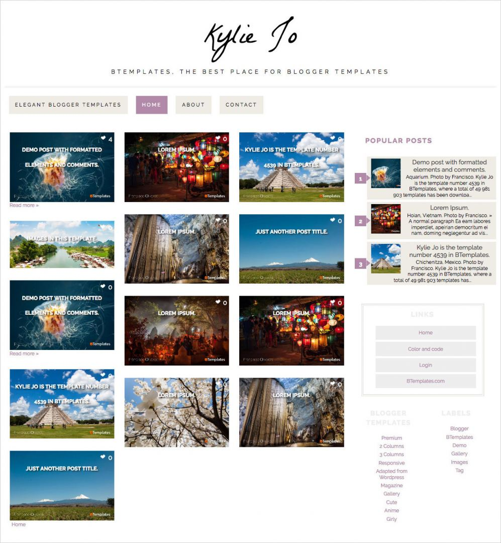 Kylie-Jo-Blogger-Template
