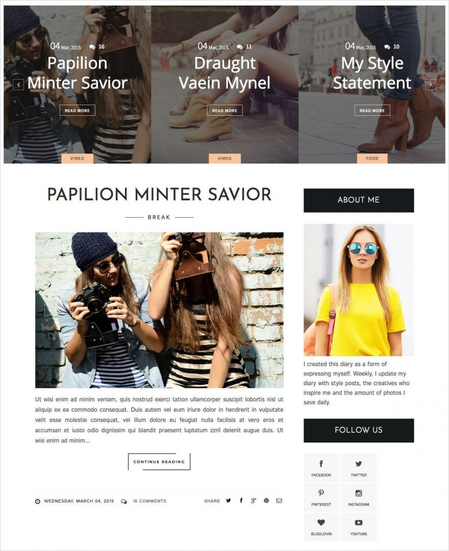 Life-Fashion-Blogger-Template