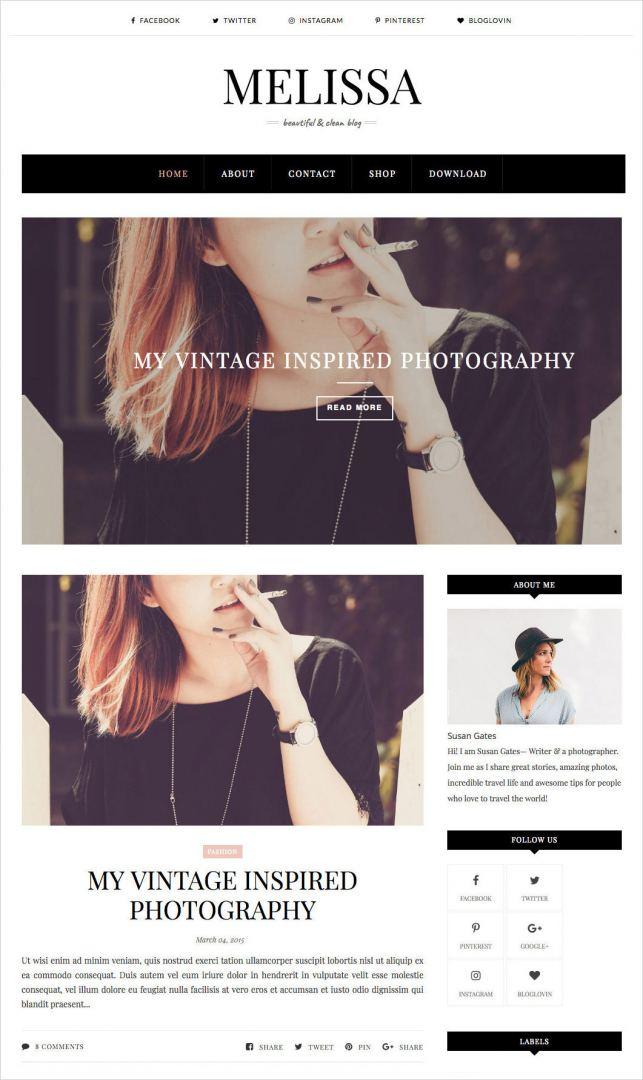 Melissa-Blogger-Template