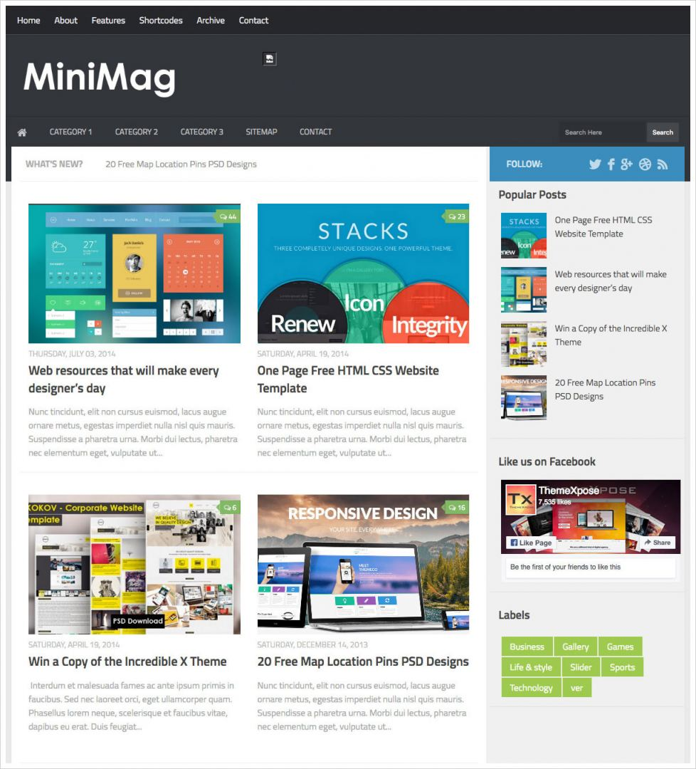 MiniMag-Blogger-Template
