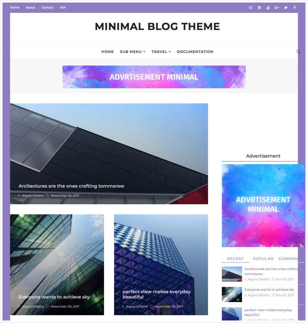 Minimal-Blog-Theme