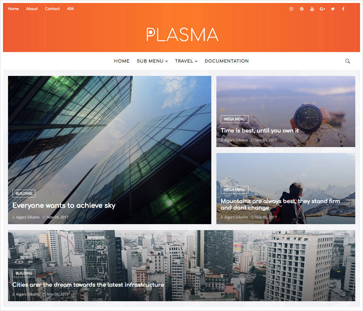 Plasma-Blogger-Template