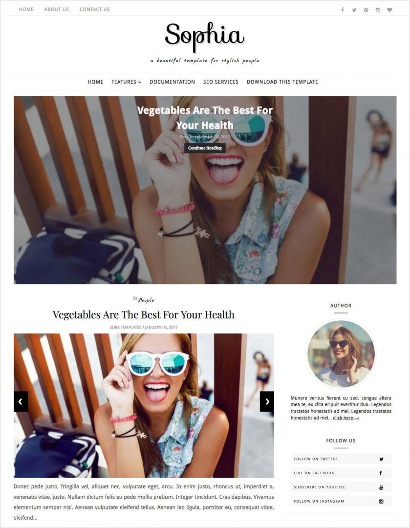 Sophia-Blogger-Template