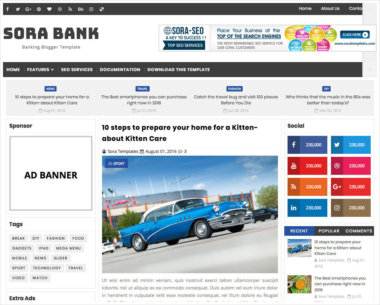 Sora-Bank-Blogger-Template