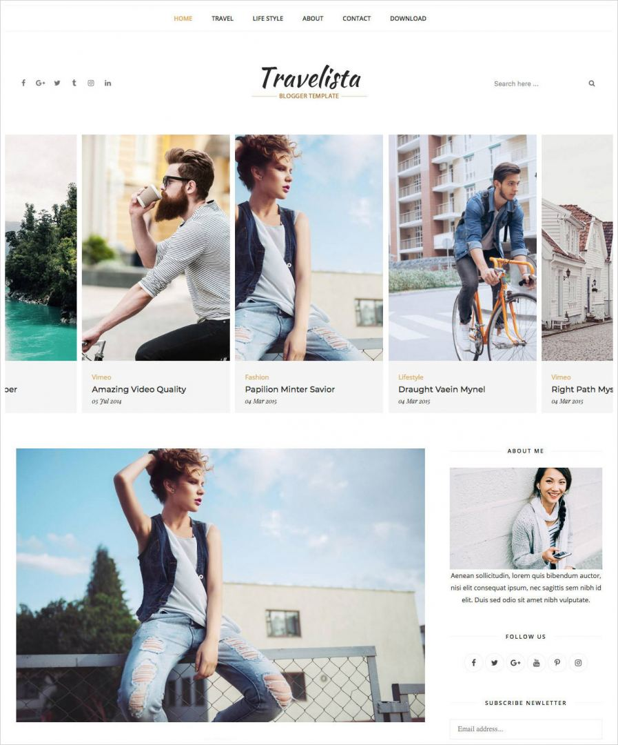Travelista-Blogger-Template