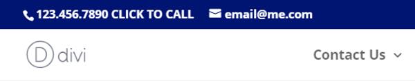 A call me now button.