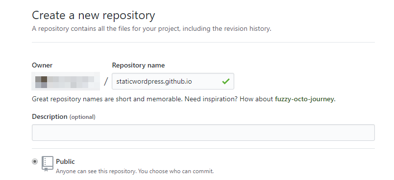 Creating a new repository.